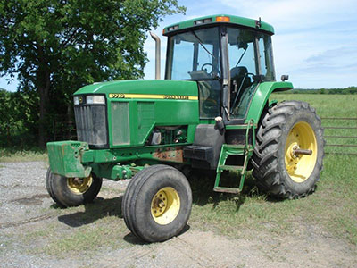1999 John Deere 7710 2wd Tractor With Cab Air Powerquad